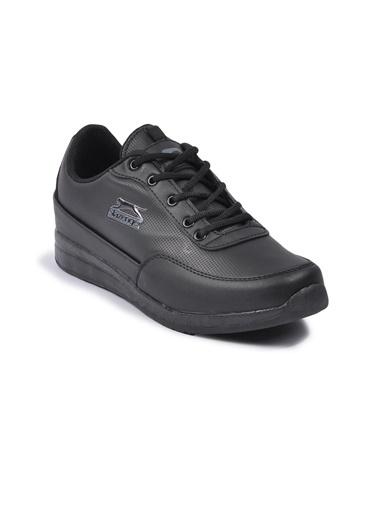 Slazenger Angle Siyah-Siyah Kadın Spor Ayakkabı(2021) Siyah